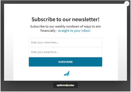 Increase blog traffic with OptinMonster email list
