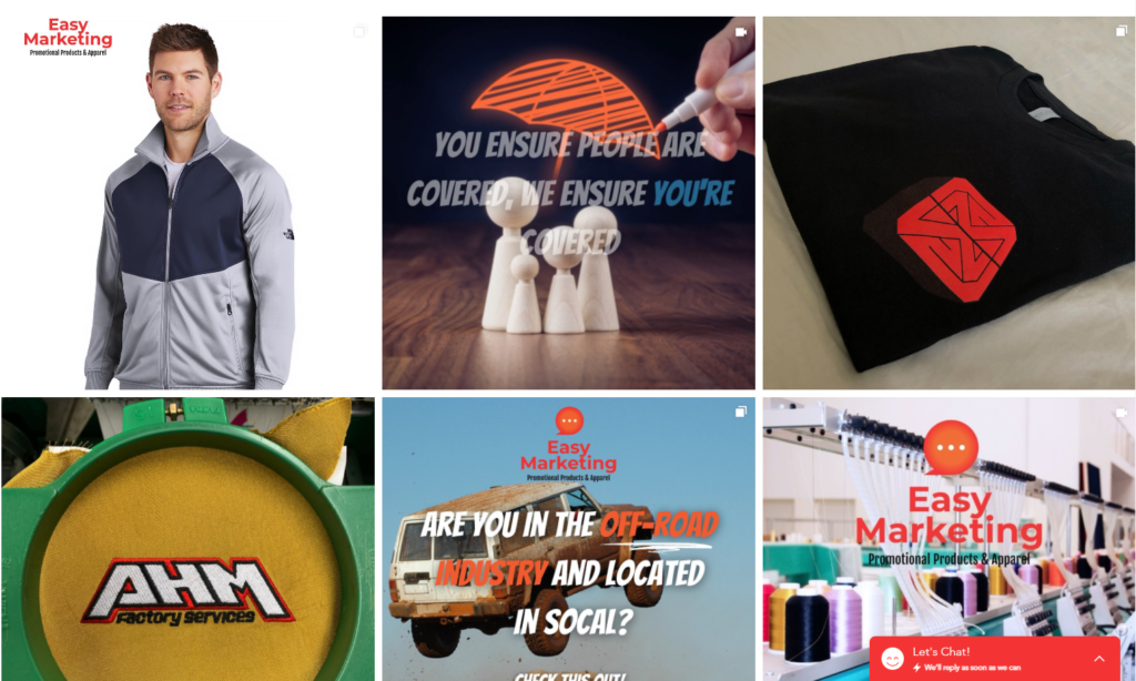 Easy Marketing Concepts and apparel