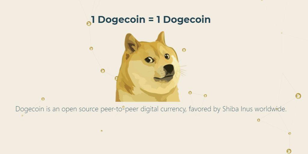 1 dogecoin = 1 dogecoin