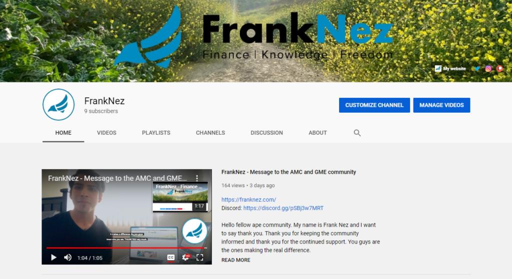 Franknez.com YouTube channel