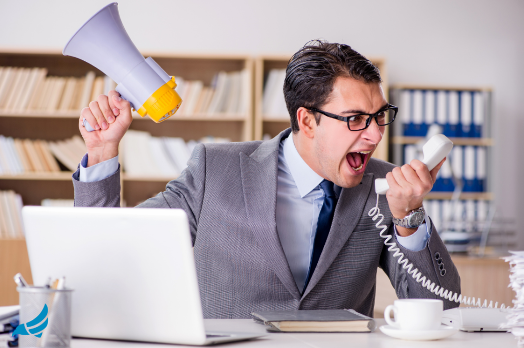 how to deal with an upset client about to leave