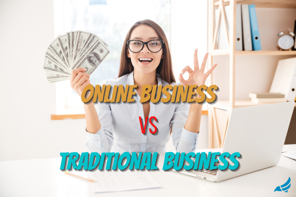 online business vs traditional business