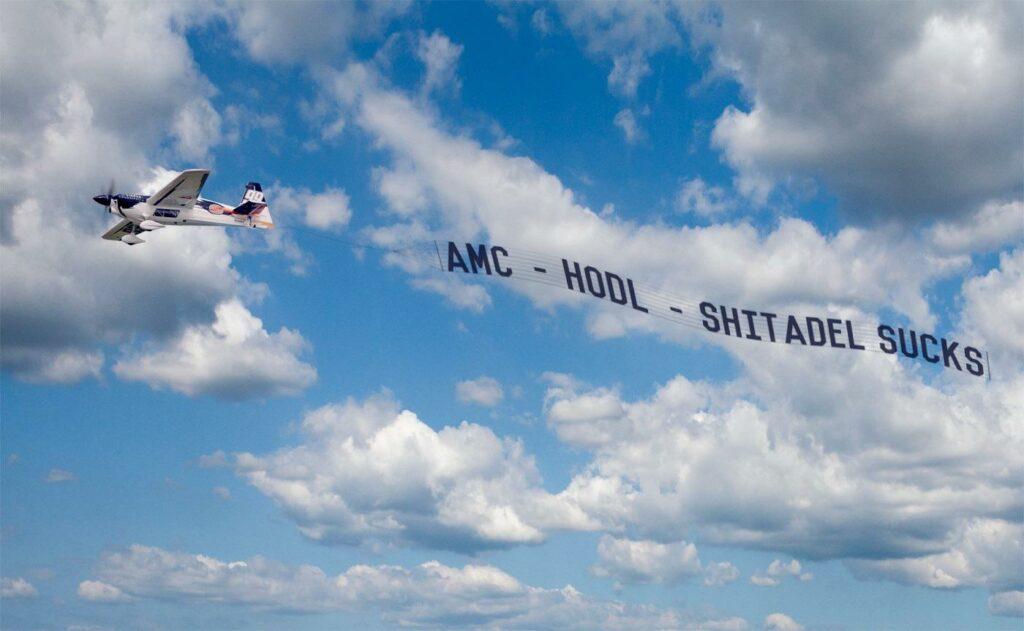 AMC Plane Banner