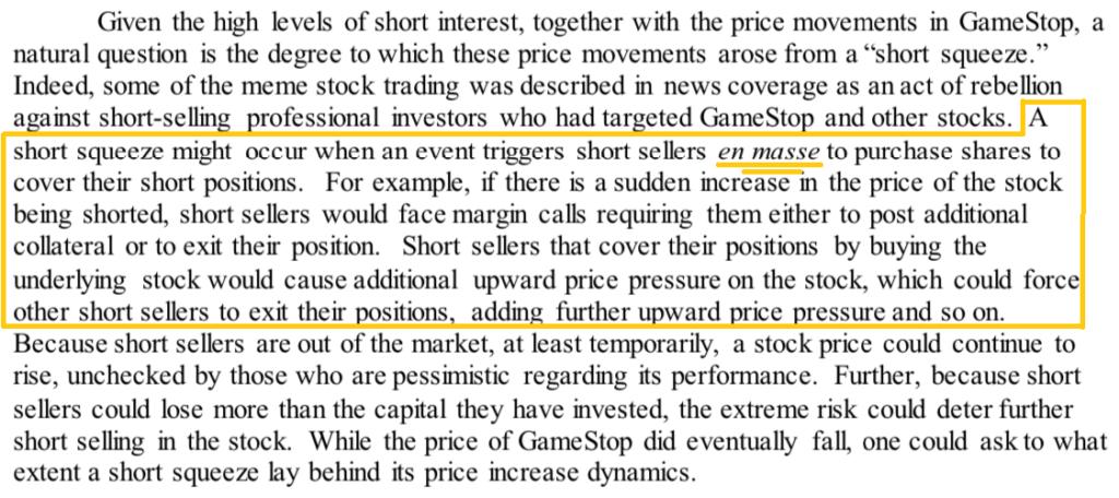 GameStop Short Squeeze SEC Report